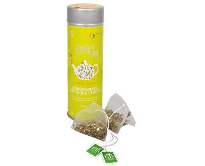 Ceai, iarba de lamaie, ghimbir si citrice - staniu de 15 piramide bioodbouratelnými