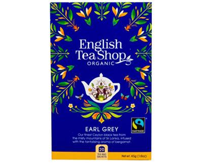 Černý čaj Earl Grey s bergamotem BIO 20 sáčků