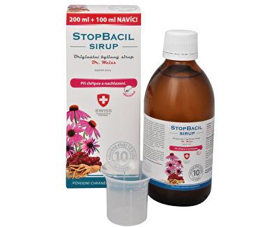 StopBacil sirup Dr. Weiss 200 ml + 100 ml ZDARMA
