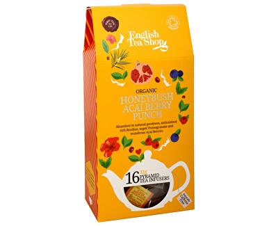 Čaj Punč s medovým keřem a ovocem acai 16 pyramidek