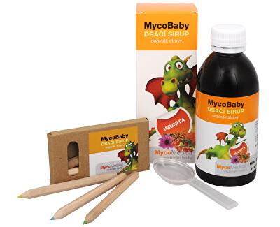 MycoBaby dračí sirup 200 ml + pastelky ZADARMO