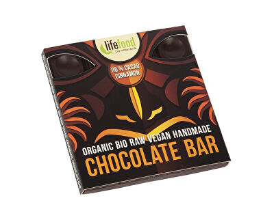 Bio čokoláda z nepraženého kakaa 95% kakao so škoricou raw 35g