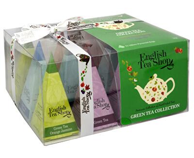 Darčeková kolekcia 12 pyramídiek Zelený čaj 4 príchute