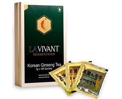 LAVIVANT ženšenový granulovaný čaj, dřevěná krabička, 100 ks