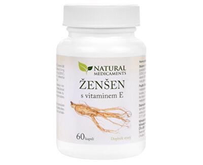 Ženšen + vitamín E 60 kapslí