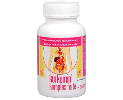 Kurkumin komplex FORTE 300 mg + piperin 60 kapslí