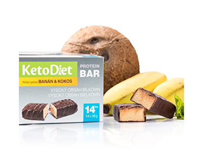 Proteinová tyčinka příchuť kokos-banán 14 x 36 g