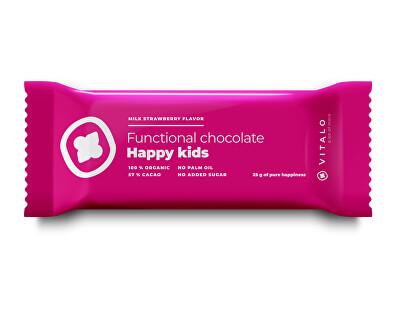 Funkčné čokoláda Happy Kids - Milk strawberry Flavor 25g
