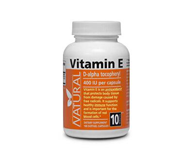 Vitamín E 400 IU přírodní 100 kapslí