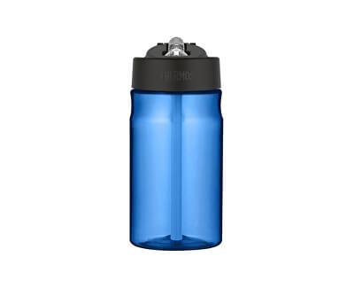 Dětská hydratační láhev s brčkem - modrá 350 ml
