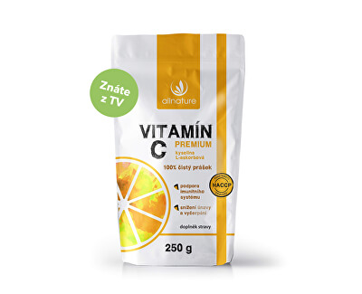 Vitamín C prášek Premium 250 g - Extra výhodné balení pro celou rodinu