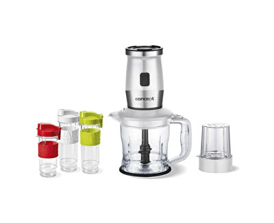 Fresh&Nutri smoothie mixér, chopper, mlýnek, 700 W + láhve 2 x 570 ml + 400 ml bílý SM3391