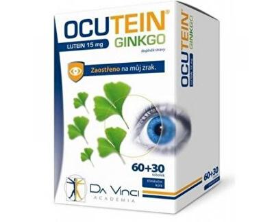 Ocutein Ginkgo 45 mg + Lutein 15 mg Da Vinci 60 + 30 tobolek