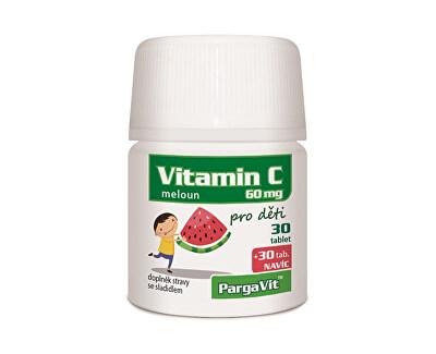 PargaVit Vitamín C melón pre deti 60 tabliet
