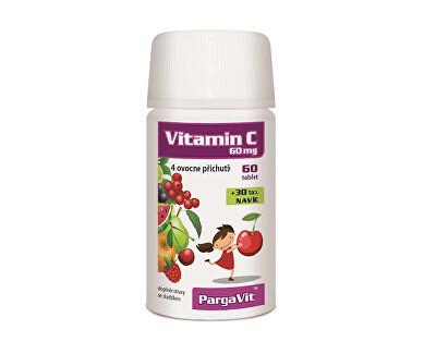 PargaVit Vitamín C Mix Plus pre deti 90 tabliet