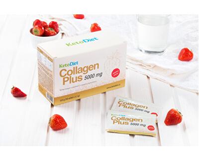 Collagen Plus 5000 mg - příchuť jahoda