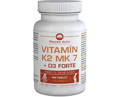 Vitamín K2 MK7 + D3 Forte 1000 I.U. 125 tbl.