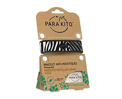 Grafický náramek proti komárům - PARA`KITO + 2 náplně