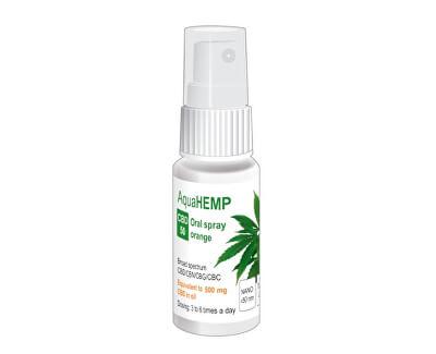 AquaHEMP spray ORANGE broad spectrum