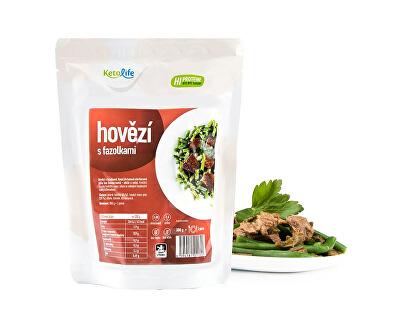 Hotové jedlo - Hovädzie s fazuľkami - 1 porcia