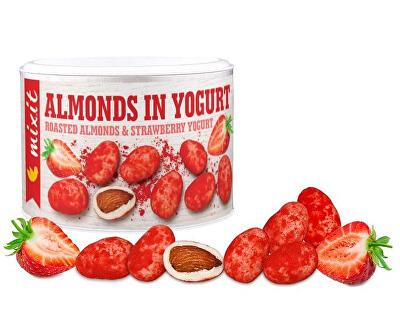 Mandle v jogurte s jahodovým prachom 240 g -ZĽAVA - KRÁTKA EXPIRÁCIA 27.9.2021
