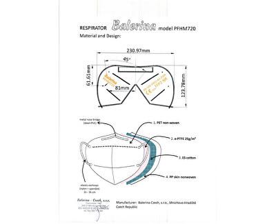 Nano respirátor FFP2 - maskáčový