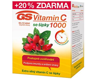 GS Vitamín C1000 + šípky 50 + 10 tabliet -ZĽAVA - poškodená krabička