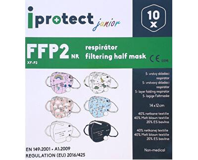 Respirátor FFP2 NR iprotect junior modrý 10 ks