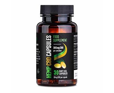 CBD Gélové kapsuly 300 mg CBD 30 ks