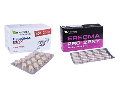 Eregma pro ženy 60 tablet + Eregma MAX power 100 tbl. + 20 tbl. ZDARMA