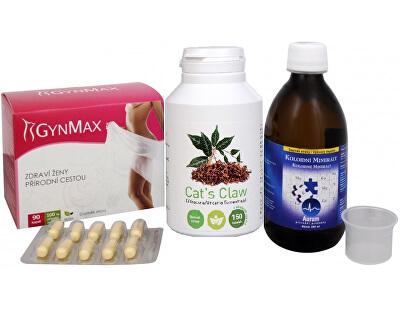 Na Ženské pohlavní orgány - Cat´s Claw + GynMax + Koloidní minerály