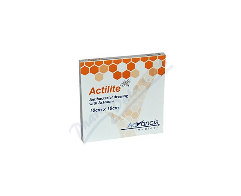 ADVANCIS MEDICAL Actilite 10x10cm krytí antimikrob.s medem 10ks