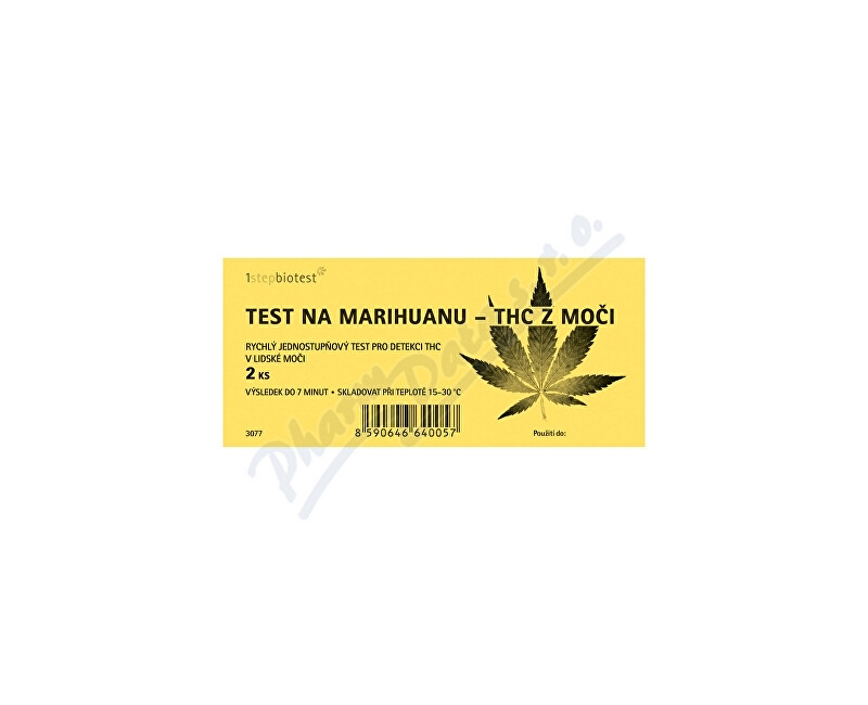 ALFA SCIENTIFIC DESIGNS INC. Test na marihuanu -THC z moči 2 ks