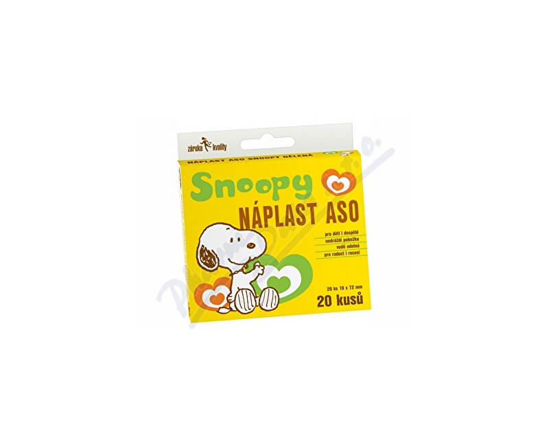 ASO PHILIPPINES INC. Náplast ASO SNOOPY 19x72mm KRB 20ks