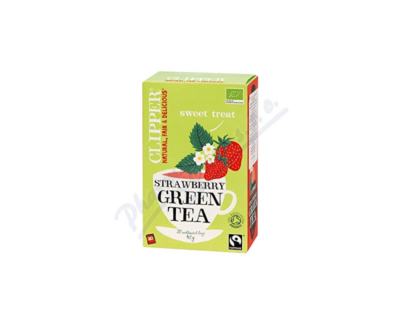 CLIPPER TEAS LTD Čaj Clipper green tea with Strawberry flav.20x2g