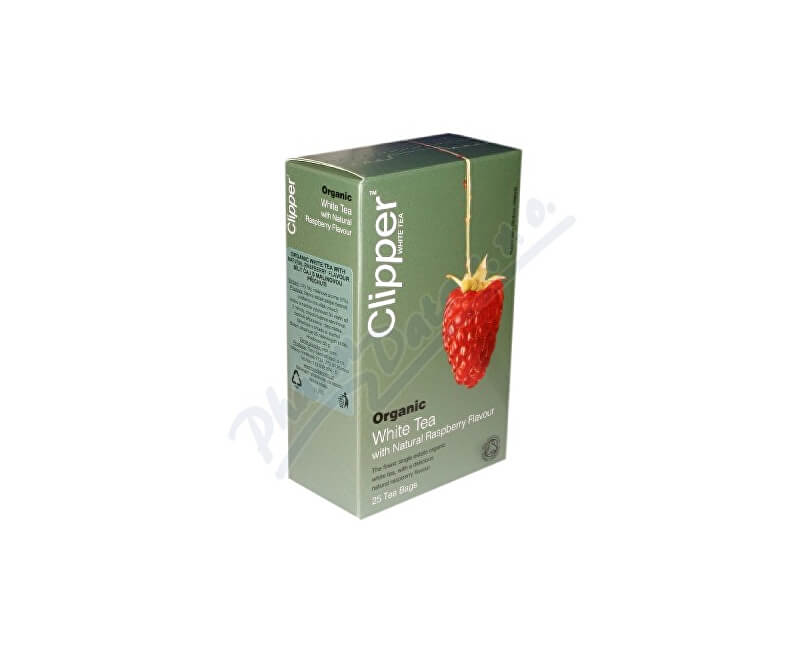 CLIPPER TEAS LTD Čaj Clipper organic white tea + Raspberry 25x2g