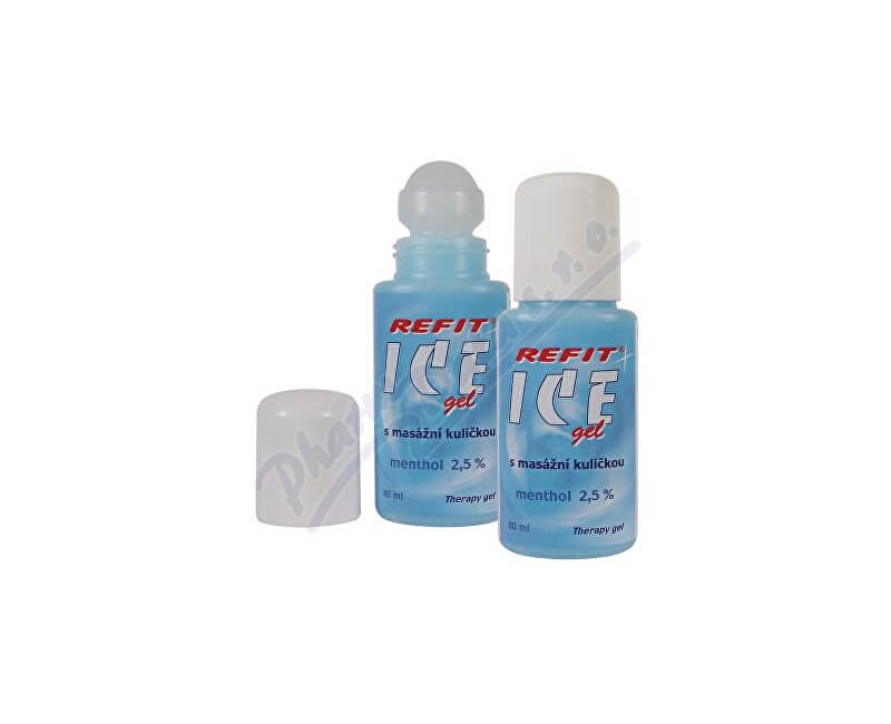 EDWIN OZIMEK Refit Ice gel roll-on Menthol 2.5% na záda 80ml