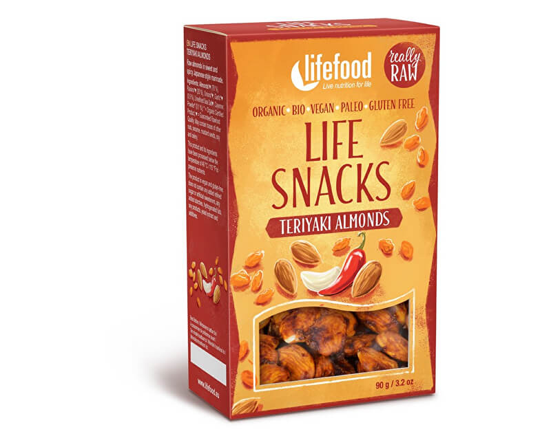Lifefood LIFE SNACKS Teriyaki mandle BIO 90g