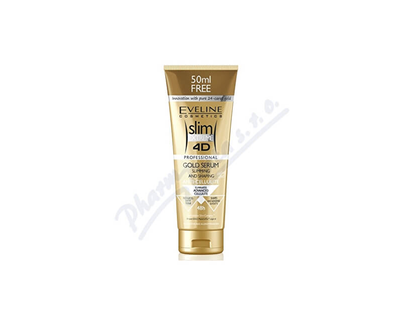 EVELINE COSMETICS EVELINE SLIM 4D Gold sérum proti celulitidě 250ml