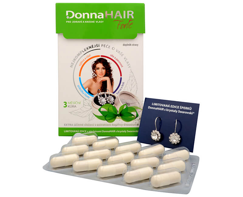 Simply You Donna Hair Forte 90 tob. + náušnice Swarovski ZDARMA (model 2016)