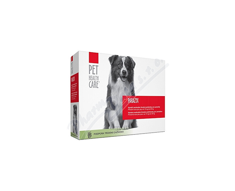 FARMACIA CARE s.r.o. PET HEALTH CARE PARAZYX psi od 15kg tbl.44
