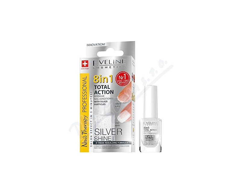 EVELINE COSMETICS EVELINE SPA Nail Total 8v1 Silver kondicionér 12ml