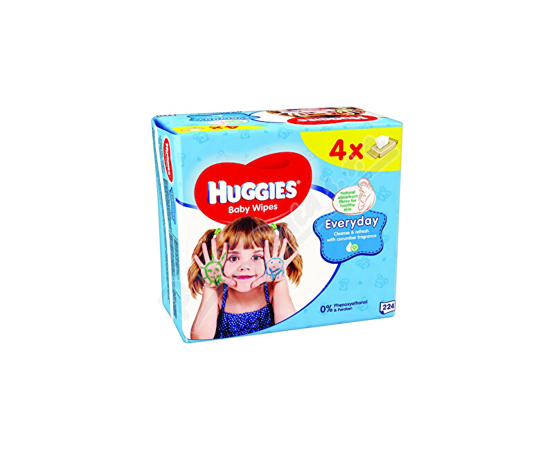KIMBERLY-CLARK - KLEENEX HUGGIES Everyday Quatro 56x4ks