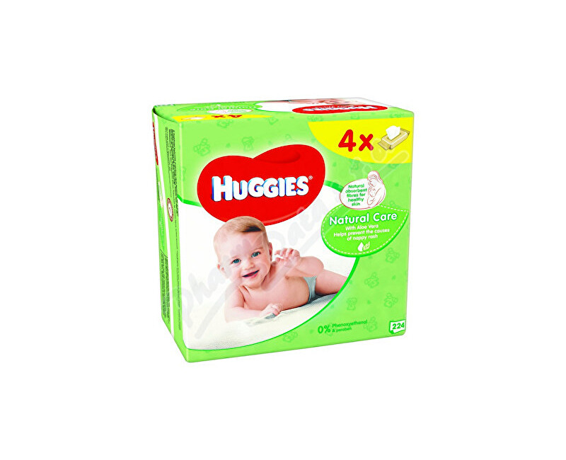 KIMBERLY-CLARK - KLEENEX HUGGIES Natural Care Quatro 56x4ks