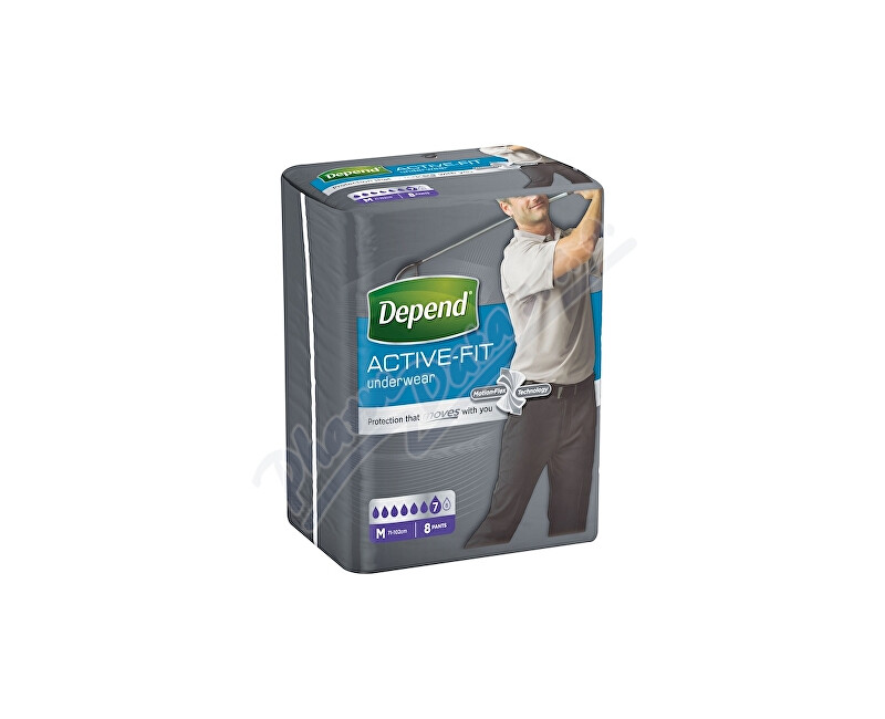 KIMBERLY-CLARK EUROPE Ltd. Inkont.kalh.abs.DEPEND Active-Fit M pro muže 8ks